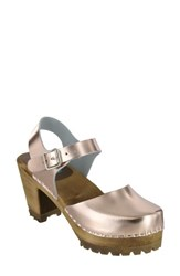 Mia Women's Abba Sandal Rose Gold Leather