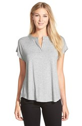 Women's Pleione Split Neck High Low Tee