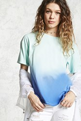 Forever 21 Ombre Dolphin Hem Tee Mint Blue