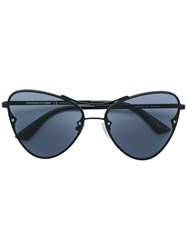 Mcq By Alexander Mcqueen Eyewear Oversized Tinted Sunglasses Black