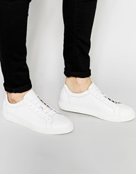 Selected Homme Dylan Leather Trainers White