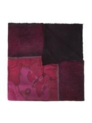 Avant Toi Horse Print Scarf Pink And Purple