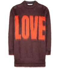 Givenchy Mohair And Wool Blend Sweater Red