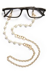 Women's Spring Street Pearly Bead Eyeglass Chain Silver