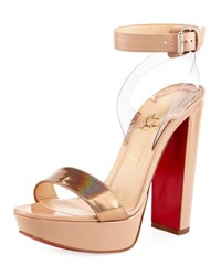 Christian Louboutin Cherry Patent Platform Red Sole Pump Doudou