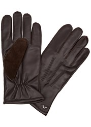 J. Lindeberg Milo Dark Brown Leather Gloves