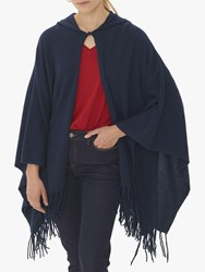 Gerard Darel Cecily Cashmere Knitted Cape Navy