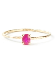 Wouters And Hendrix Gold 'Ruby' Ring Pink And Purple