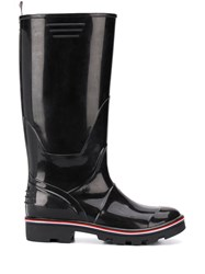 Thom Browne Molded Rubber Wellington Boot Black