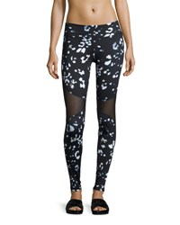 Varley Bayview Mesh Panel Sport Leggings Nightstalker Multi Pattern