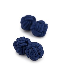 Thomas Pink Classic Knot Cufflinks Navy