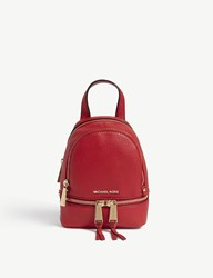 Michael Michael Kors Rhea Extra Small Leather Backpack Bright Red