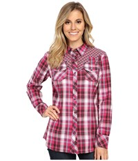 Ariat Rainey Snap Shirt Fuchsia Multi Women's Long Sleeve Button Up