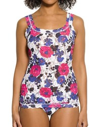 Hanky Panky Floral Printed Lace Camisole Pink Purple
