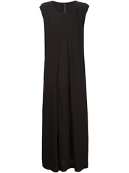 Barbara I Gongini Front Inverted Pleat Maxi Dress Black