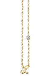 Shy By Se 'S Diamond Initial Pendant Necklace Gold L
