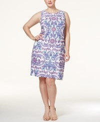 Charter Club Plus Size Paisley Print Shift Dress Only At Macy's Cloud Combo