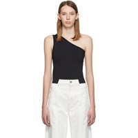 Helmut Lang Black Asymmetric Seamless Tank Top