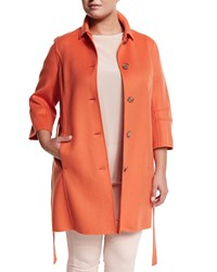Marina Rinaldi Narcisco Wool Blend Coat Women's Coral