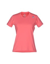 K Way Topwear T Shirts Women Pink