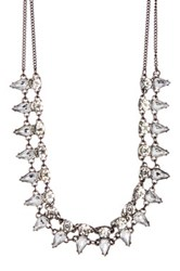 Stephan And Co Crystal Statement Stone Necklace Black