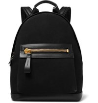 Tom Ford Canvas And Leather Backpack Black