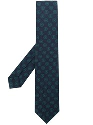 Barba Dotted Pattern Tie Blue