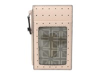 Lodis Blair Perf Ina Card Case Blush Taupe Credit Card Wallet Pink