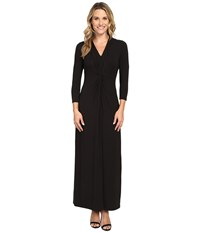 Tommy Bahama Tambour Twist Front Maxi Dress Black Women's Dress