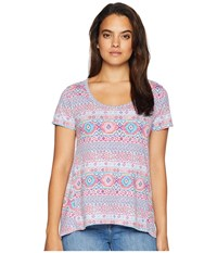 Fresh Produce Stamped Geo Luna Top Wisteria Clothing Purple
