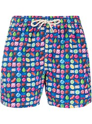 Mc2 Saint Barth Candies Printed Swim Shorts Blue
