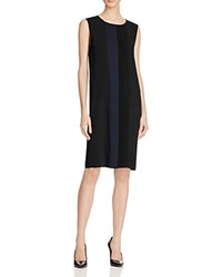 Magaschoni Ponte Relaxed Dress Black Midnight Combo