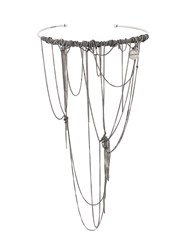 Ann Demeulemeester Draped Chain Necklace Metallic