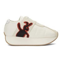 Marni Dance Bunny White Platform Sneakers