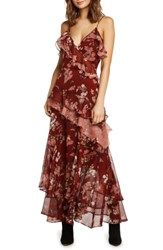 Willow And Clay Tiered Ruffle Maxi Dress