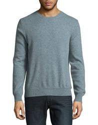 Black Brown Long Sleeve Cashmere Sweater Light Sky