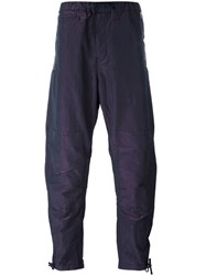 Stone Island Shadow Project Wrinkled Tapered Trousers Men Cotton Polyester 46 Pink Purple