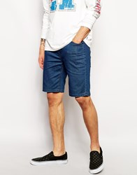 Zee Gee Why Denim Shorts Hang It Skinny Fit Punch Blue Blue