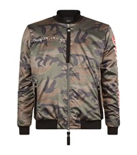 Blood Brother Loyal Camo Print Bomber Jacket Male Green
