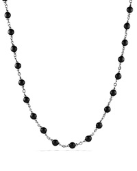 David Yurman Spiritual Beads Rosary Necklace In Black Onyx Black Silver