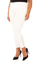 Rebel Wilson X Angels Plus Size Women's The Siren Ankle Skinny Jeans White