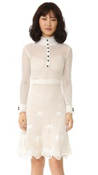 Derek Lam Embroidered Dress White