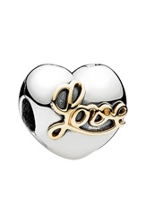 Pandora Design 'Heart Of Love' Clip Charm Silver Gold