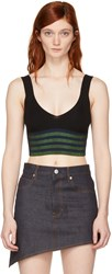 Opening Ceremony Black Striped Knit Tank Top