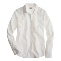 J.Crew Tall Stretch Perfect Shirt White