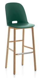 Emeco Alfi High Back Barstool Brown