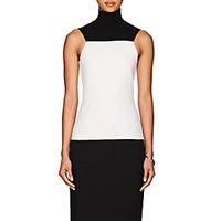 Narciso Rodriguez Colorblocked Compact Knit Wool Top Black White