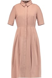 Raoul Soho Cotton Blend Shirt Dress Antique Rose