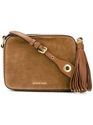 Michael Michael Kors Large ' Brooklyn' Camera Crossbody Bag Nude And Neutrals