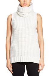 Elie Tahari 'Mary Kate' Side Zip Turtleneck Sweater Antique White
